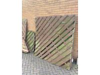 FREE WOODEN FENCE PANELS X3