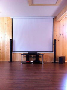 1080p , 3D Epson brand projector n 100 inch screen