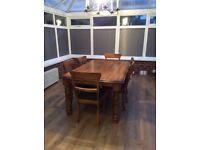6ft rustic country table
