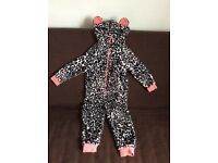 Next Animal Print Girls Onesie Dressing Up Clothes 6 Years