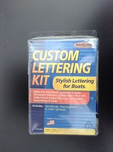 "Hardline Custom Lettering Kit - 5"" Letters for Boats and Crafts"