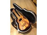 KoAloha KSM-02 longneck soprano ukulele with hard case.