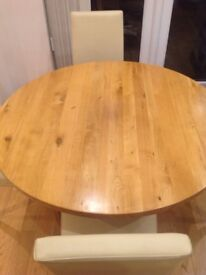 *Dining Room / Kitchen Table (Next) + 4 chairs (M&S) Complete Set