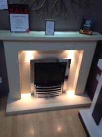 Crieff Coral Cream Fireplace