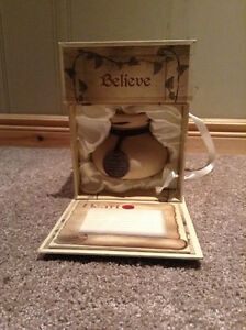 """Believe"" candle holder with original box and stationary Kitchener / Waterloo Kitchener Area image 5"