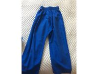 Blue Karate trousers in size 0