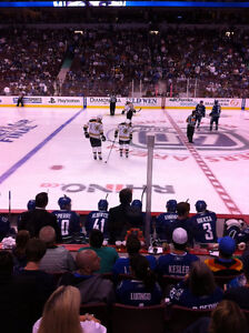 Canucks Lower Bowl Centre Ice - Section 117 Row 8
