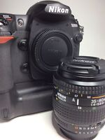 Nikon D200 with grip and 35-80mm lens