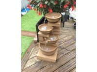 Kendal bowls water feature with LED lights 85cm high