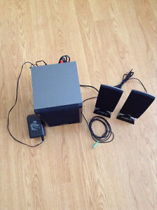 Cyber Acoustics Speaker System with Subwoofer