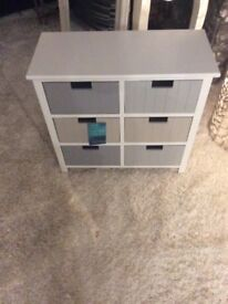 New England Small Six Drawer Storage Chest.