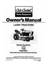IH CUB CADET Model 1215 1220 Tractor Owners Operators