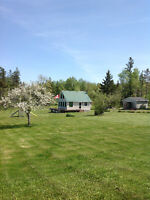 READY TO MOVE IN 2 BR.HOUSE/COTTAGE ON 2.9 ACRES-WATER VIEW