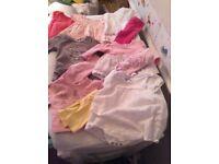 Newborn baby girl large clothes bundle 1