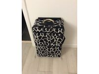 Lightweight animal print suitcase, 2 wheels