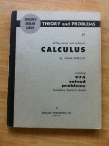 SCHAUM OUTLINES:  CALCULUS