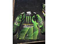 Thor Monster Energy Motocross Gear Youth Medium