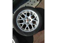 MG ZR alloy wheel with tyre 205/50 zr16 6mm tread