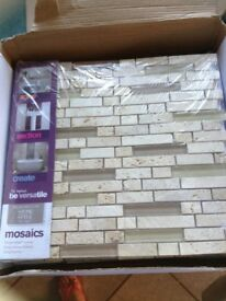 Cream mosaic tiles (30 approx)