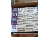 Cream mosaic tiles (20 approx)
