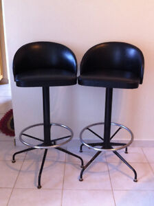 Two vintage bar stools