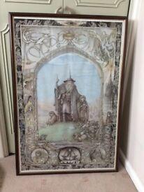 Framed Gandalf poster