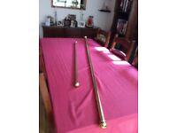 Brass curtain poles