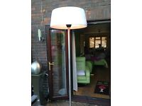 Lampshade 2.1kw heater with stainless steel stand and base