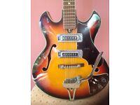 Vintage Audition Semi acoustic guitar