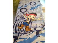 CHILDRENS SINGLE PIRATE DUVET SET. REVERSIBLE.