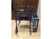 Mobility walker with padded seat (brand new)