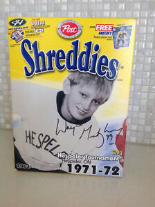 Wayne Gretzky Cereal Boxes Shreddies Honeycomb Alpha-Bits