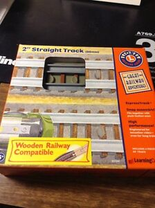 """AMERICAN LEGEND LIONEL 2""""STRAIGHT WOODEN COMPATIBLE THOMAS"""