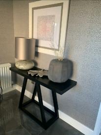 Brand New Modern Sleek Black Console Table RRP £370