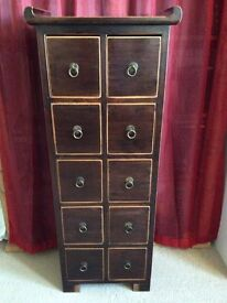Gorgeous unusual tallboy chest of drawers furniture Sutton sm3 (delivery)