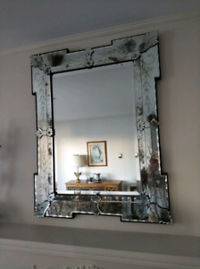 "Large French Mirror 38"" x 31"" wide"