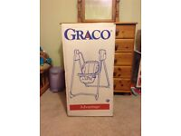 Graco battery operated six speed baby swing with optional music