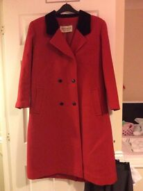 Red pure wool coat