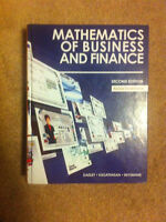 Mathematics of Business and Finance textbook - Fanshawe College