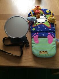 Baby car mirror and activity centre