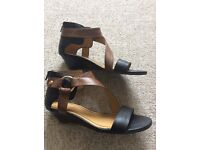 Nine West sandals in black and brown