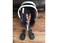 Cybex Aton baby car seat and adapters