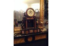 Large stunning Victorian vintage clock