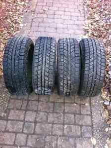 195 60 15 winter tires on 4 bolt 114.3 rims as new $350/4 Edmonton Edmonton Area image 1