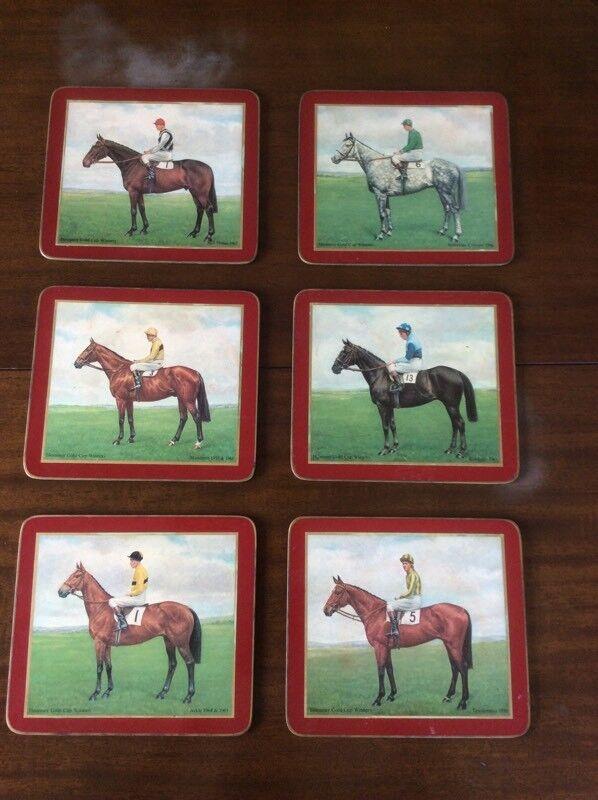 6 Horse and Jockey Dining Mats