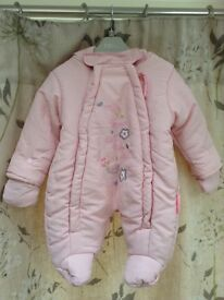Girls Newborn Snowsuit