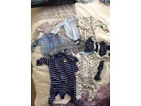 Baby boy sleep suits 0-3 months, clothes