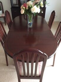 Mahogany complete dining suite