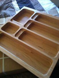 Blum solid beech cutlery trays
