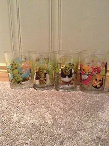 Shrek McDonald's glasses -four glasses